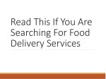 Read This If You Are Searching For Food Delivery Services