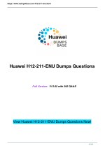 Dumpbase H12-211-ENU HCNA-HNTD (Huawei Network Technology and Device) Exam Questions