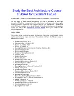 Study the Best Architecture Course at JSAA for Excellent Future