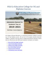 P.Ed Co-Education College for UG and Diploma Courses