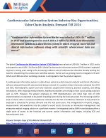Cardiovascular Information System Industry Key Opportunities, Value Chain Analysis, Demand Till 2024