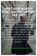 Want More Money? Start Quicken Support Live Chat