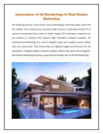 Importance of 3d Renderings in Real Estate Marketing