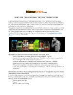HUNT FOR THE BEST WHEY PROTEIN ONLINE STORE