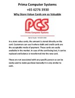 Benefits stored inside a Store Value Cards