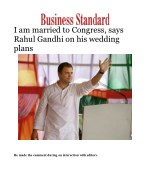 I am married to Congress, says Rahul Gandhi on his wedding plans