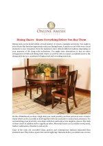 Dining Chairs - Know Everything Before You Buy Them