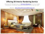 Offering 3D Interior Rendering Service