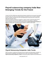 Payroll outsourcing company India New Emerging Trends for the Future