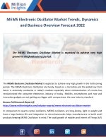 MEMS Electronic Oscillator Market Trends, Dynamics and Business Overview Forecast 2022
