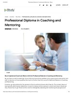Professional Diploma in Coaching and Mentoring - istudy