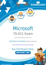 Authentic 70-411 Exam Dumps - New 70-411 Questions Answers PDF