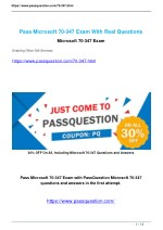 Passquestion Microsoft Office 365 70-347 exam questions