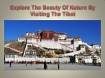 Explore The Beauty Of Nature By Visiting The Tibet