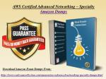 Download Pass4sure Amazon AWS Advanced Networking Specialty Dumps PDF - RealExamCollection.com