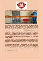 Forensic and Crime Scene Cleanup Services from Top Biohazard Cleanup Companies