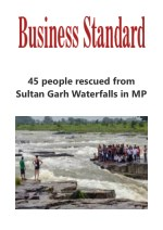 45 people rescued from Sultan Garh Waterfalls in MP on Business Standard