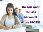 Microsoft Azure 70-535 Practice Questions