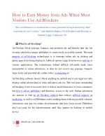 How to Earn Money from Ads When Most Visitors Use Ad Blockers