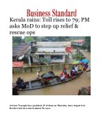 Kerala rains: Toll rises to 79; PM asks MoD to step up relief & rescue ops