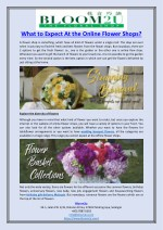What to Expect At the Online Flower Shops