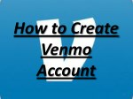 How to create a venmo Account
