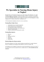 Nursing Home Injury or Neglect - Eric Nielson Associate