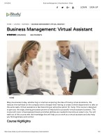 Business Management - Virtual Assistant - istudy