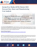 Serum-Free Media (SFM) Market Trends, Growth, Type and Application, Manufacturers, Regions & Forecast to 2022
