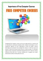 Importance of Free Computer Courses
