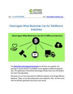 Check Again What Blockchain Can Do To Different Industries