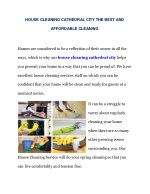 HOUSE CLEANING CATHEDRAL CITY THE BEST AND AFFORDABLE CLEANING