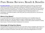Pure Biome Reviews: Where To Buy? Read Side-effcet & Ingredeints