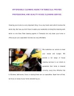 AFFORDABLE CLEANING AGENCY IN TEMECULA