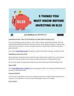 IndianMoney Review - What is ELSS and What to Consider When Investing in ELSS?