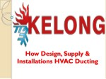 How Design, Supply & Installations HVAC Ducting