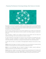 Preparing Print Business Technology Strategy: Nine Factors to Consider