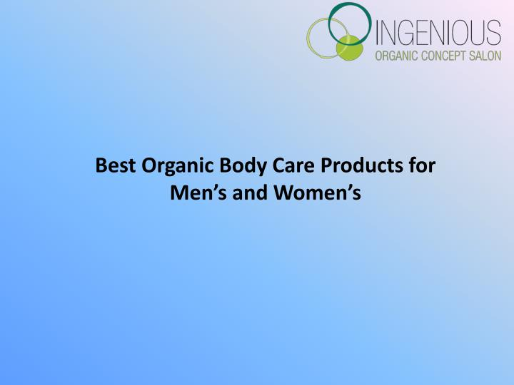 PPT - Organic Body Care Products PowerPoint Presentation