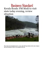 Kerala floods: PM Modi to visit state today evening, review situation