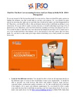 Find For The Best Cost Accounting Services And Law Firms in Delhi NCR - IPSO Management