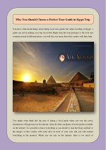 Why You Should Choose a Perfect Tour Guide in Egypt Trip