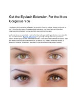 Get the Eyelash Extension For the More Gorgeous You