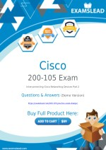 Download 200-105 Exam Dumps - Pass with Real CCNA Routing & Switching 200-105 Exam Dumps