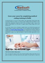 Grow your career by completing medical coding training in Delhi