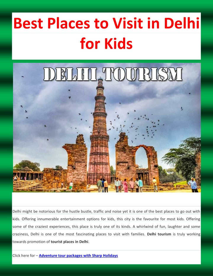 best places to visit in delhi for kids n.