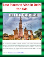 Best Places to Visit in Delhi for Kids