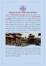 Experience the Best in Nepal, Tibet, and Bhutan