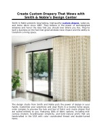 Create Custom Drapery That Wows with Smith & Noble's Design Center