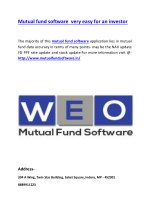 Mutual fund software very easy for an investor
