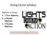 Best acting class in pune with syllabus
